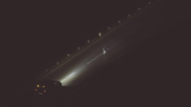 Lukas Kienreich beim Race Around Austria, Nacht, Anstieg Großglockner